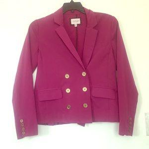 Fuchsia vintage blazer/vest